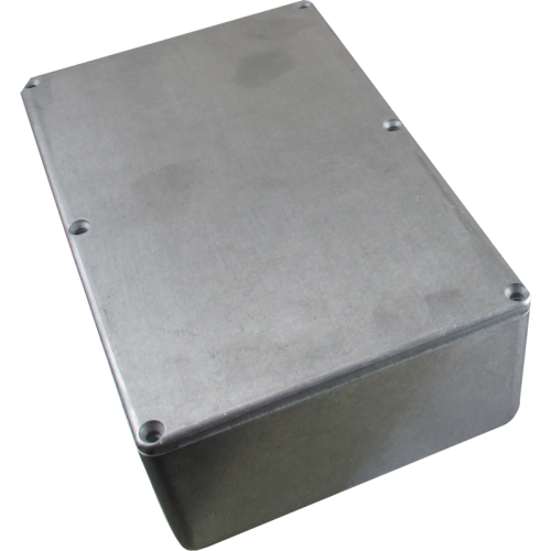 "Chassis Box - Hammond, Unpainted Aluminum, 7.38"" x 4.70"" x 2.05"" image 1"