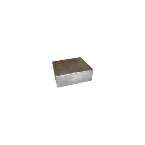 "Box - Hammond, Unpainted Aluminum, 7.38"" x 7.38"" x 2.48"" Depth image 1"