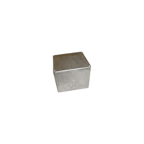 "Chassis Box - Hammond, Unpainted Aluminum, 4.70"" x 4.70"" x 3.54"" image 1"