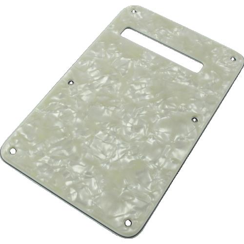 Tremolo spring cover - Fender®, white pearloid image 1