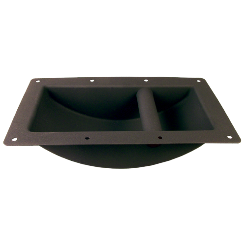 Handle - Black Metal, Large, Recessed for Cabinet image 1
