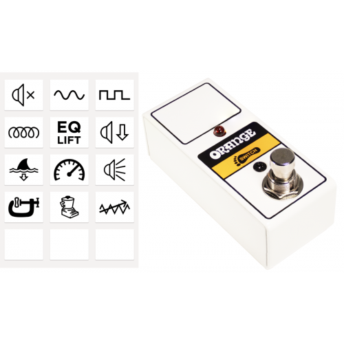 Footswitch Box - Orange, FS-1 Mini, One Button, LED w/ sticker sheet image 1