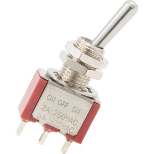 Switch - Carling, Mini Toggle, SPDT, 3 Position, Solder Lug image 2