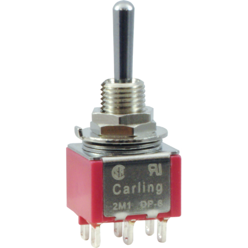 Switch - Carling, Mini Toggle, DPDT, 3 Position image 1