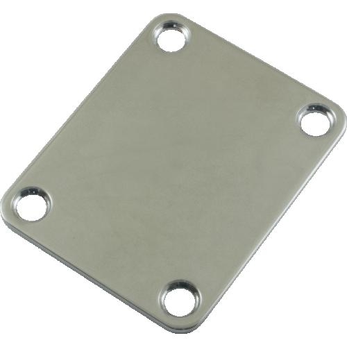 Neck Plate - Strat Style, Standard, Chrome image 1