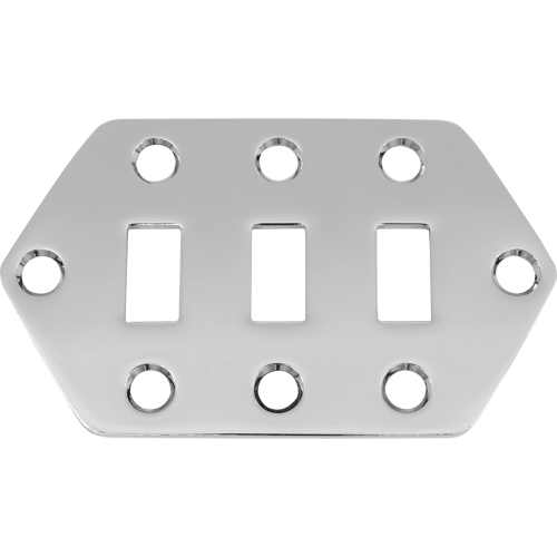 Control Plate - Jaguar Style, Selector Switch, Chrome image 1