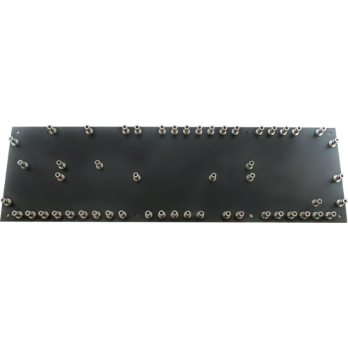 Turret Board - Black, 3mm, Loaded with 52 Turrets, 258mm x 76mm image 1