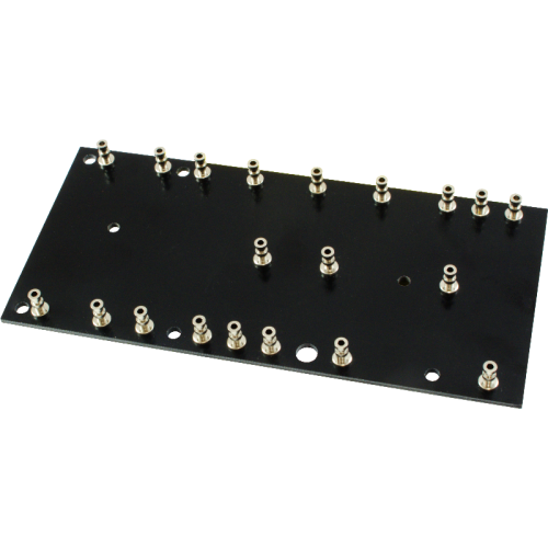 Turret Board - Black, 2mm, 5F1 Layout image 1
