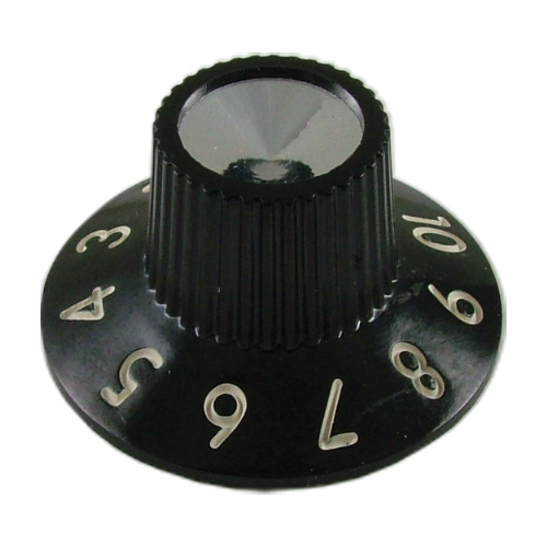 Knobs, Original Fender®, black skirted  for Blackface amps (6 pieces) image 1