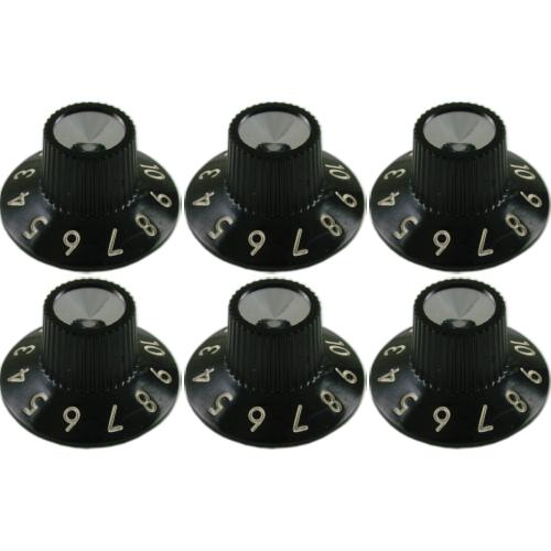 Knob - Fender®, Black Skirted for Blackface Amps image 1