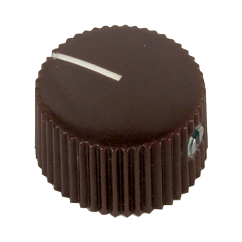 Knob, generic vintage (individual), brown image 1