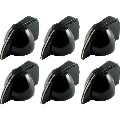 Knob - Fender®, Black Chicken-Head image 1