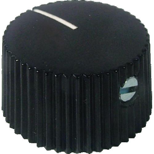 Knob - Black, White Line, Set Screw image 1