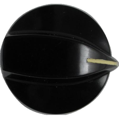 Knob - Stove, Black, White Line, for Large Pots image 1
