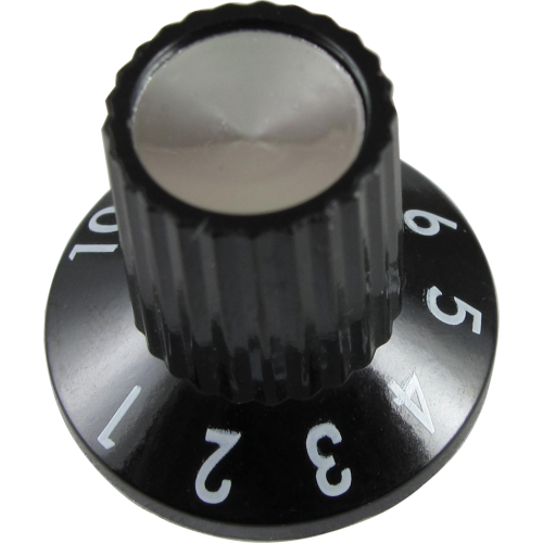 Knob - Fender, Black 1-10, for Princeton 65 DS image 1