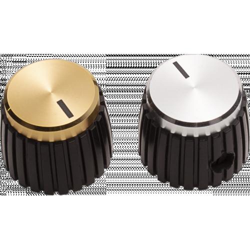 Knob - Black, Cap, Mini Marshall Style, Set Screw image 1
