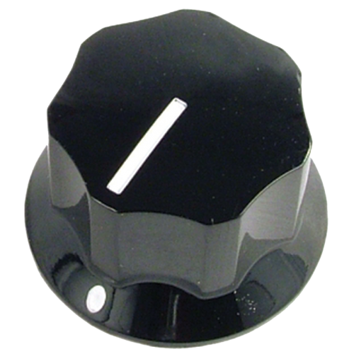 "Knob - Black, Line, Set Screw, 1.0"" x .6"" image 1"