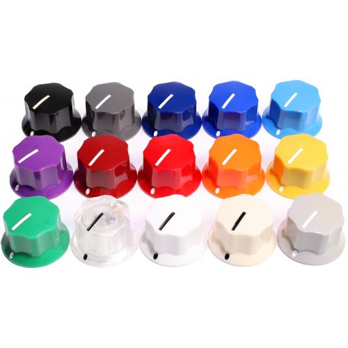 "Knob - Plastic, Set Screw, MXR Style, 0.9"" Diameter image 1"