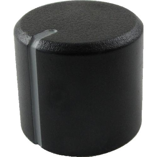 Knob - Peavey, Black, Grey Stripe, Set Screw image 1