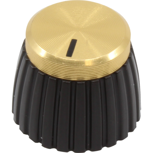 Knob - Marshall, Brown, Gold Cap, Push-On image 1