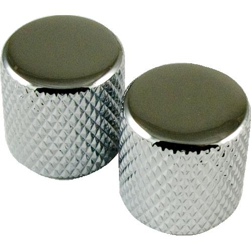 Knob, Telecaster metal for knurled shaft (2 pieces), chrome image 1