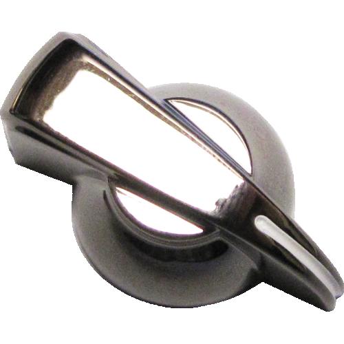 Chicken-head Knob, push-on for knurled shaft, Black Onyx image 1