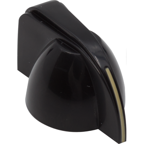 Knob - Small Chicken Head, Black, Set Screw image 1