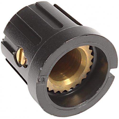 "Knob - Plastic, Set Screw, Knurled w/ Dot, 0.605"" Diameter image 2"