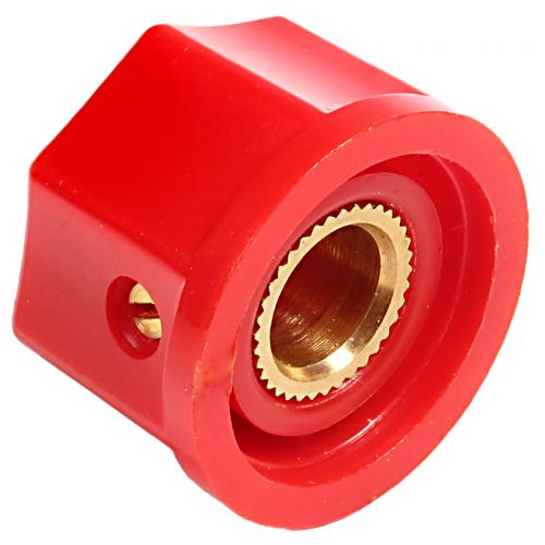"Knob - Plastic, Set Screw, Fluted w/ Line, 0.745"" Diameter image 2"