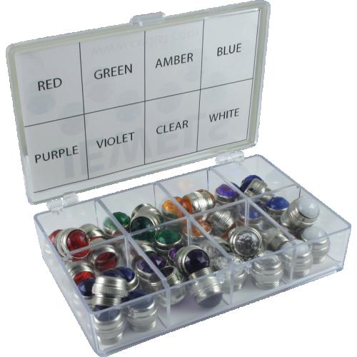 Indicator Lamp Jewel Kit - 8 colors, 5 of each, 40 total pcs image 1
