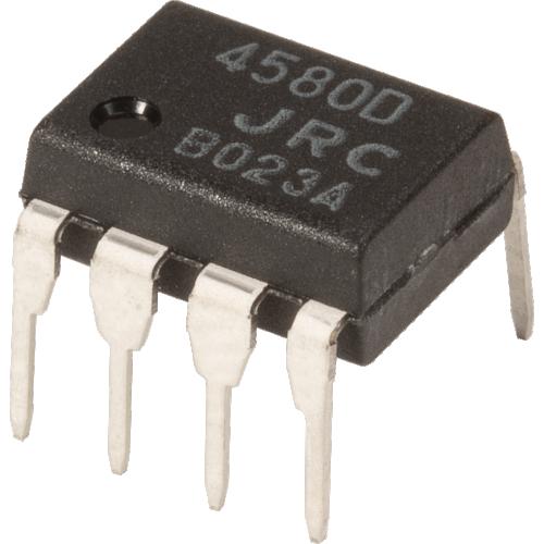 Op-Amp - NJM4580D, Dual, Audio, DIP 8 image 1