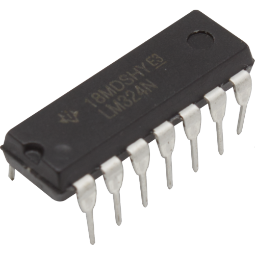 Op-Amp - LM324, Quad, Low-Power, 14-Pin DIP image 1