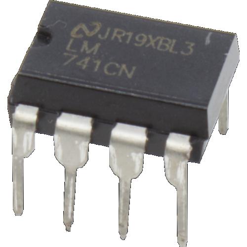 Op-Amp - LM741, Single, general purpose, 8-Pin DIP image 1