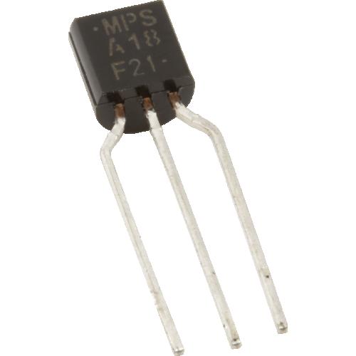 Transistor - MPSA18, Darlington 200mA 45V NPN image 1