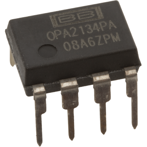 Op-Amp - OPA2134, Dual, High Performance Audio, 8-Pin DIP image 1