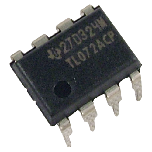 Op-Amp - TL072, Dual, Low-Noise, JFET Input, 8-Pin DIP image 1