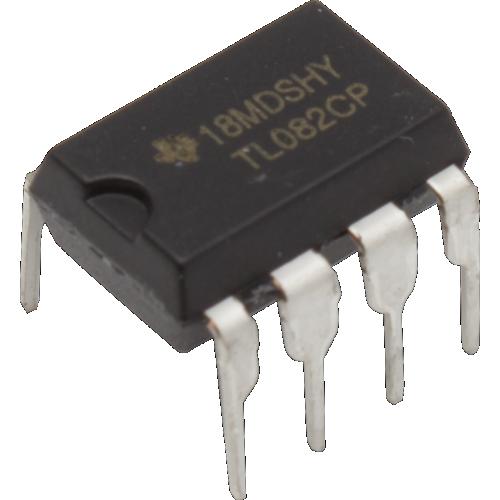 Op-Amp - TL082, Dual, Wide-Bandwidth, JFET Input, 8-Pin DIP image 1
