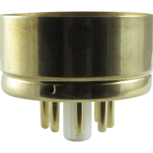 "Tube Base - 8 Pin, Gold Coated Pins, 1.57"" diameter image 1"