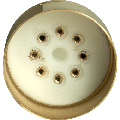 "Tube Base - 8 Pin, Gold Coated Pins, 1.57"" diameter image 2"
