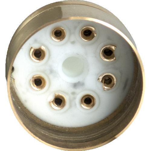 "Tube Base - 8 Pin, Gold Coated Pins, 1.20"" diameter image 2"