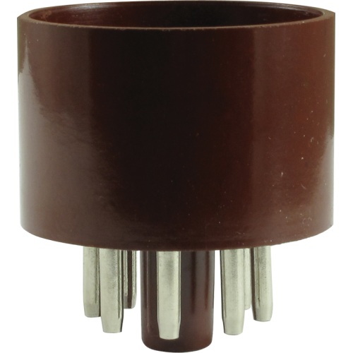 Tube Base - 8 Pin, Octal, Brown image 1