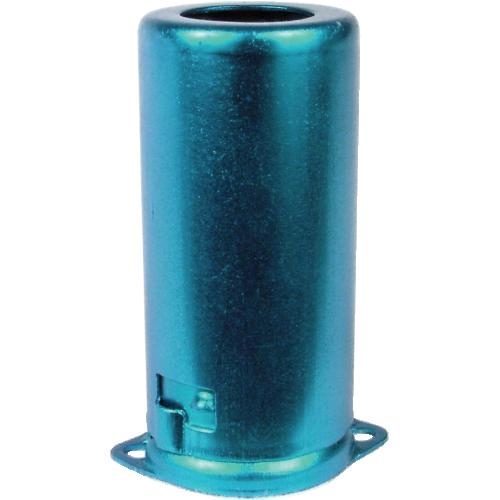 Tube shield for 9-pin miniature, aluminum, blue image 1