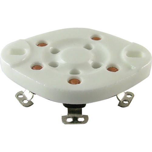 Socket - 5 Pin, Ceramic Plate, bottom mount image 1