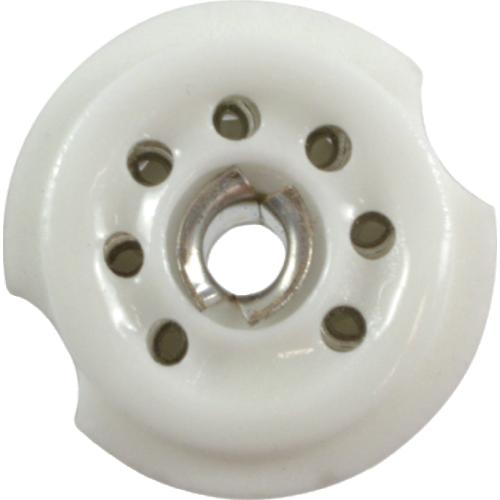 Socket - 7 Pin, Miniature, Standoff Ceramic PC Mount, Center Lug image 2