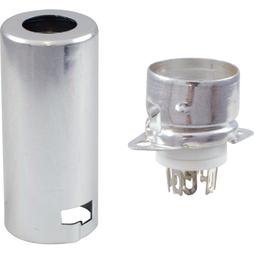 Socket - 7 Pin, Miniature, Ceramic, with Aluminum Shield image 1