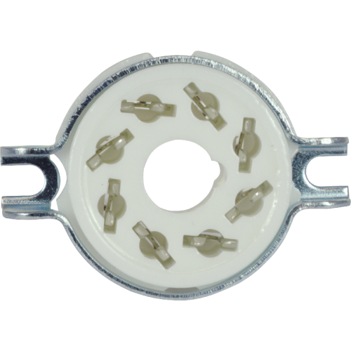 Socket - 8 Pin Octal, Ceramic, with Separate Retaining Ring image 3