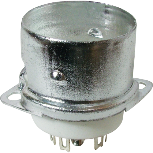 Socket - 9 Pin, Ceramic with Center Shield and Shield Base image 1