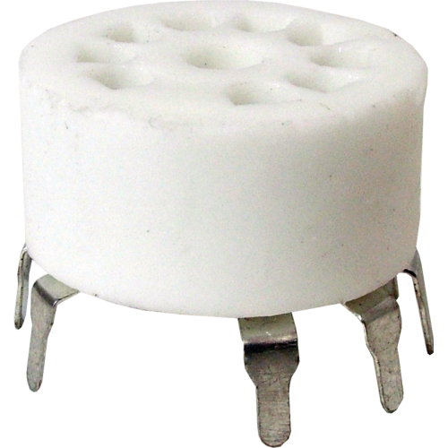 Socket - 9 Pin, Miniature, Standoff Ceramic PC Mount image 1