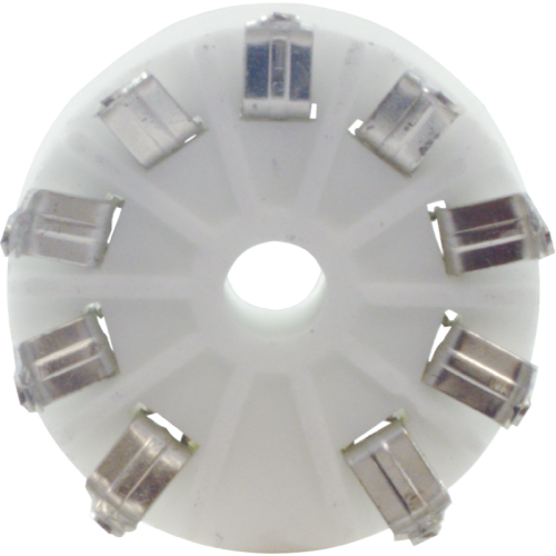 Socket - 9 Pin, Standoff Ceramic PC Mount image 3