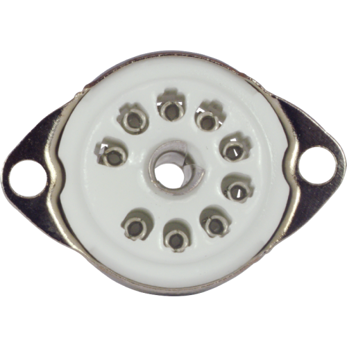 Socket - 9 Pin, Ceramic with Center Shield image 2
